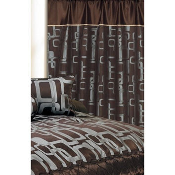 "60X90"" Bristol Window Curtain Chocolate"