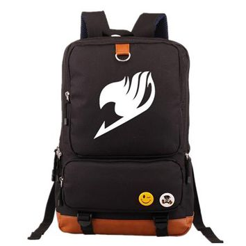 Japanese Anime Bag Fashion  Fairy Tail Backpack Mochila Knapsack teenagers Men Women's Student School Bags travel Shoulder Bag Laptop Bags AT_59_4