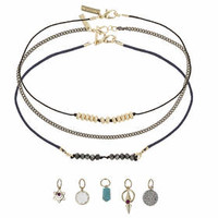 Choker Pack With Charms - Turquoise