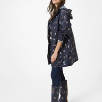 Go lightly French Navy Dog Waterproof Packaway Parka | Joules US