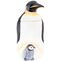 Penguin & Baby Ceramic Cookie Jar