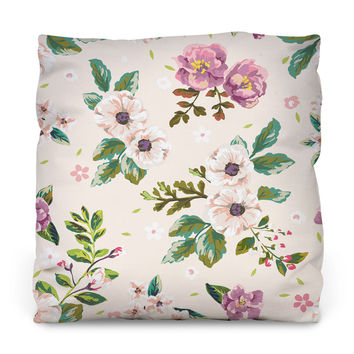 Floral Scent Outdoor Throw Pillow