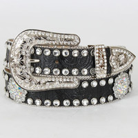 Nocona Belt Co.® Ladies' Berry Concho Rhinestone Belt