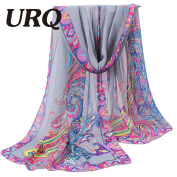 silk scarf Soft Bandana Bohemian Scarf Capes Headband 2015 Womens Fall Fashion Neck Warmer Wrap Winter Shawl Foulard 277 URQ