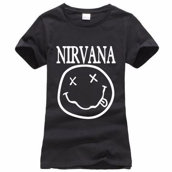 Nirvana - Smiley Face Shirt Various Colors