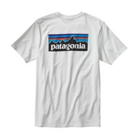 Patagonia Men's P-6 Logo Cotton T-Shirt | White