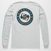 Quiksilver Finish Line Mens T-Shirt Light Grey  In Sizes
