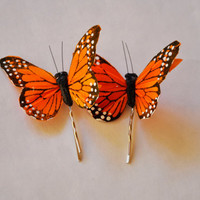 Monarch Butterfly Hair Pin Garden Monarch