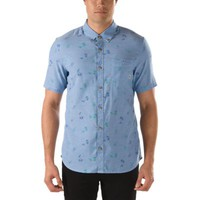 Vans Baines Palm Paisley Buttondown Shirt (Federal Blue Paisley Palm)