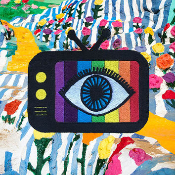 TV Eye  /// Psychedelic Patch /// Spirituality  /// Custom Colors and Images Available