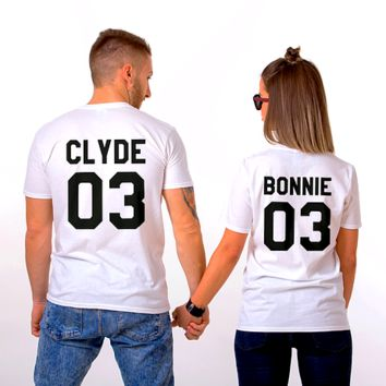 Matching Couple T-Shirts - Bonnie & Clyde
