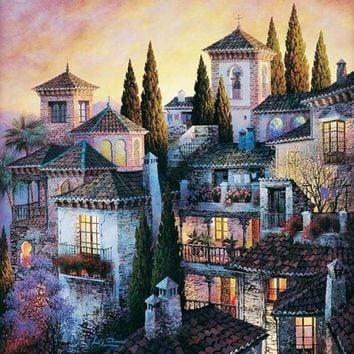 5D Diamond Painting City Hill Kit