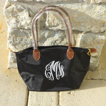 Monogram Navy Champ Purse Font Shown MASTER CIRCLE in pink