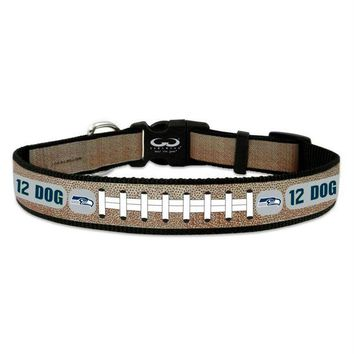 DCCKT9W Seattle Seahawks 12th Dog Reflective Football Pet Collar