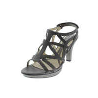 Naturalizer Womens Danya Faux Leather Caged Heels