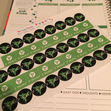 FREE SHIPPING E12 It Works ItWorks direct sales stickers for Erin Condren Life Planner/Plum Paper Planner - set of 45