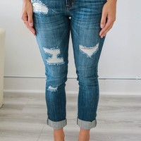 The Mallori Cropped Denim