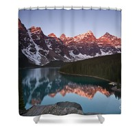 Moraine Lake Sunrise Shower Curtain for Sale by Ivy Ho