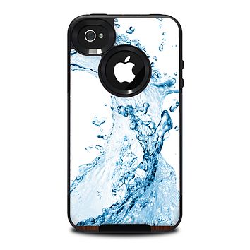 The Water Splashing Wave Skin for the iPhone 4-4s OtterBox Commuter Case