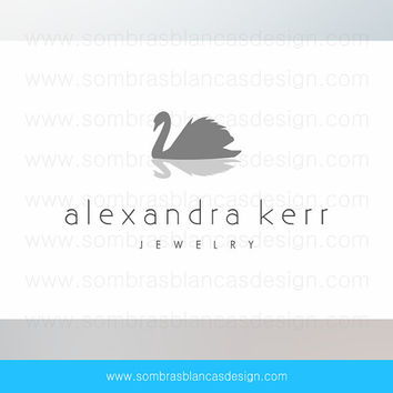 OOAK Premade Logo Design - Silver Swan - Perfec for a jewelry designer or a high end bags brand