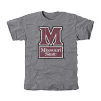Missouri State University Bears Distressed Secondary Tri-Blend T-Shirt - Ash