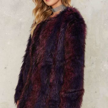 Power Through Faux Fur Coat