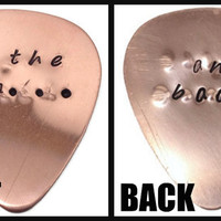 To the Moon and Back Copper Guitar Pick - Father's Day Gift, Gifts for Men, Gift for Husband, Gifts for Musicians