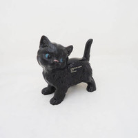Coopercraft Black Cat Figurine, Black Cat Figurine, Cat Figurine, Ceramic Cat