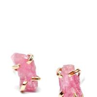 Pink Spinel Claw Stud Earrings