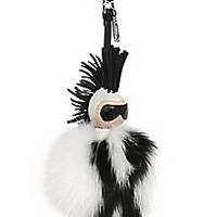Fendi - Karlito Fox Fur & Leather Pom-Pom Charm - Saks Fifth Avenue Mobile