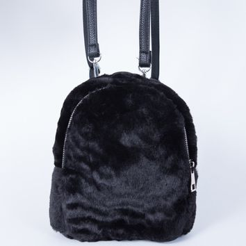 Mini Fur Backpack