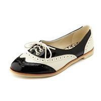 Lace-Up Saddle Oxford Flat: Charlotte Russe