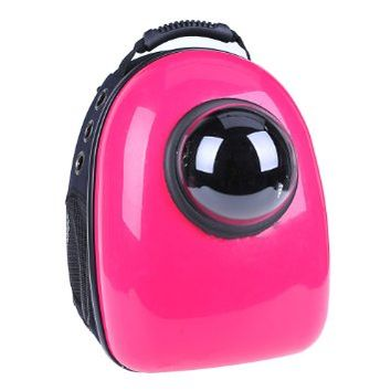 U-pet Patent Bubble Pet Travel Carrier Rose