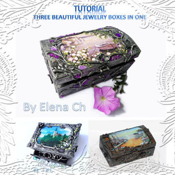 TutorialThree beautiful jewelry boxes in one PDF by flowerdeco