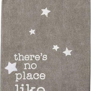 There's No Place Like Home Dish Towel with Stars Design