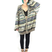 80s Coogi Style Cardigan Oversize Slouch Grandpa Hip Hop Mens Cosby Cardigan Grunge Avant Garde Knit Winter Plus Size Striped Jumper (XL)