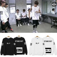 Bangtan Boys Hoodie BTS Pullover Rap Monster  J-Hope V Stand Out Hoody Sweater