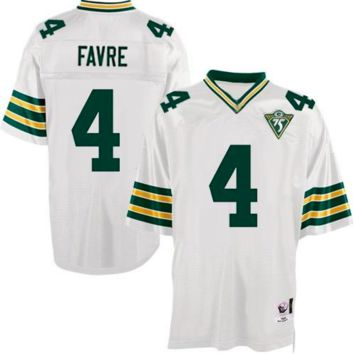 KUYOU Green Bay Packers Jersey - Brett Favre Throwback Jerseys