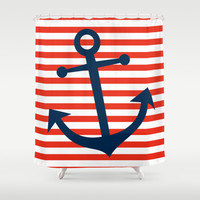 Nautical Anchor Shower Curtain by All Is One