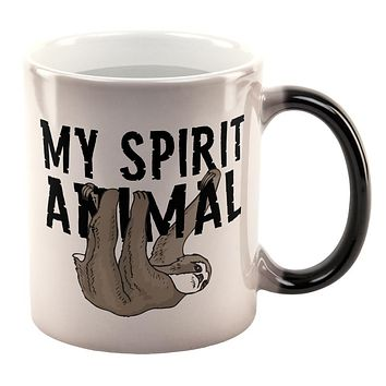 Sloth My Spirit Animal All Over Heat Changing Coffee Mug