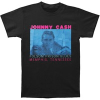 Johnny Cash Men's  Folsom Prison T-shirt Black