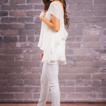 Feeling Girly Top, Ivory