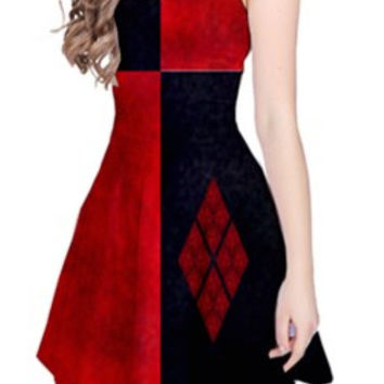 Harley Quinn Reversible Sleeveless Dress
