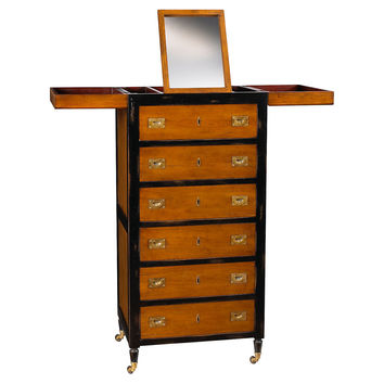 Charmant Tall Vanity Chest, Black/Light Cherry, Vanities U0026 Dressing Table