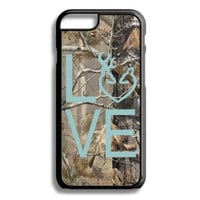 Blue Buck Love Camo Monogram iPhone 5S 5C 6/6S and Galaxy Custom Personalized Case Cover