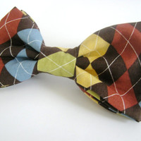 Dog Bow Tie Elegant Colorful Bowtie Small Medium Large Removable Attached with Velcro