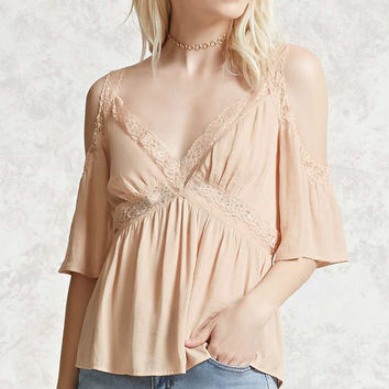 Satin Open-Shoulder Top