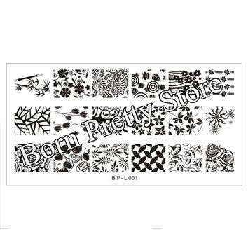 Nail Stamping Plates Lace Flower Animal Pattern Nail Art Stamp Stamping Template Image Plate Stencil Nails Tool