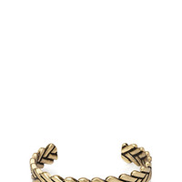 Burnished Woven Cuff Gold One