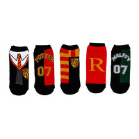 Harry Potter Quidditch No-Show Socks 5 Pair